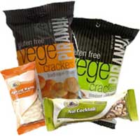 Healthy vending machine snack products