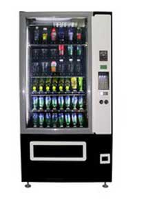 Live display cold drink vending machine